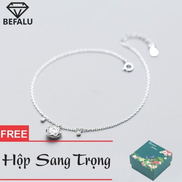 Lắc Chân Nữ Bạc S925 Phong Cách Hàn Quốc Hoa Lông Đá LC06 Lắc Chân FREESIZE