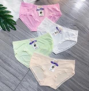 1 chiếc quần lót cotton nữ viền ren êm ái (43-60kg) - chất liệu cực mát và thấm hút - quần lót nữ đẹp - N16 thumbnail