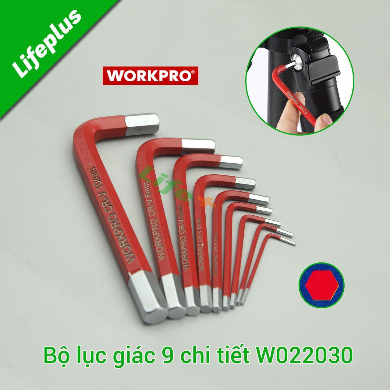 Bộ lục giác 9 cây loại ngắn Workpro W022030