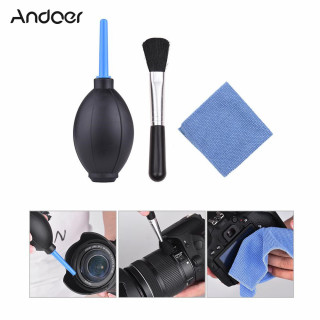 Andoer 6 in 1 Dust Cleaner Camera Cleaning Kit Lens Brush+ 3pcs Cleaning Cloth+ Air Blower+ Optical Cleaning Tissue for Canon Nikon Sony DSLR ILDC Camera and Lens thumbnail