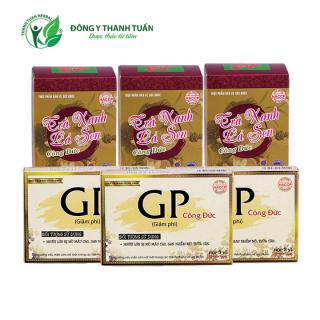 Combo 3 hộp trà xanh lá sen & 3 hộp giảm phì - Giúp tăng cường sức khỏe, kiểm soát cân nặng, giảm mỡ thumbnail
