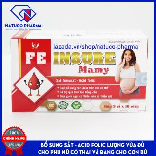 Viên uống FEinsure Mamy - Bổ sung sắt và acid folic cho phụ nữ có thai, cho con bú, người sau phẫu thuật.HSD 2023..Hộp 30 viên chuẩn GMP bộ y tế thumbnail