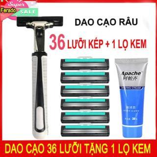 Bộ dao cạo râu tặng 36 lưỡi kép Gulliet + 1 lọ kem cạo râu thumbnail