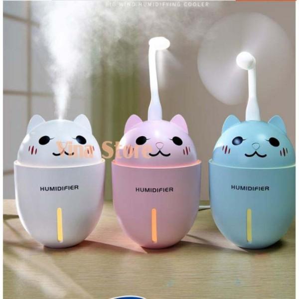 Bảng giá Máy phun sương tạo ẩm cao cấp 3in1 kiêm quạt USB và đèn led hình mèo con siêu dễ thương Điện máy Pico