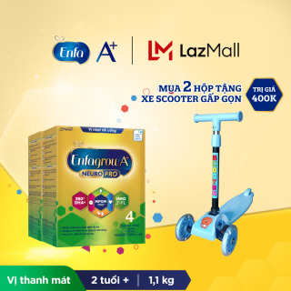 Bộ 2 hộp Sữa bột Enfagrow A+ Neuropro 4 với 2 -FL HMO cho trẻ từ 2-6 tuổi 1.1kg - Tặng xe scooter cho bé thumbnail