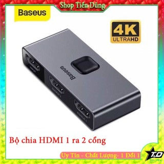Bộ chia cổng HDMI 1 ra 2 cổng HDM Baseus Matrix HDMI Splitter (2 Devices to 1 Screen or 1 Device to 2 Screen, Support 4K thumbnail