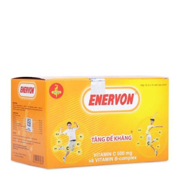 [HCM]Viên Tăng Đề Kháng Và Bổ Sung Vitamin C - Enervon 500mg Vitamin C
