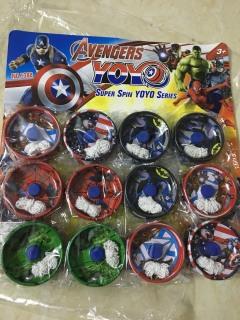 1 chiếc Đồ chơi con quay yoyo siêu anh hùng bằng sắt (giao mẫu ngẫu nhiên) thumbnail