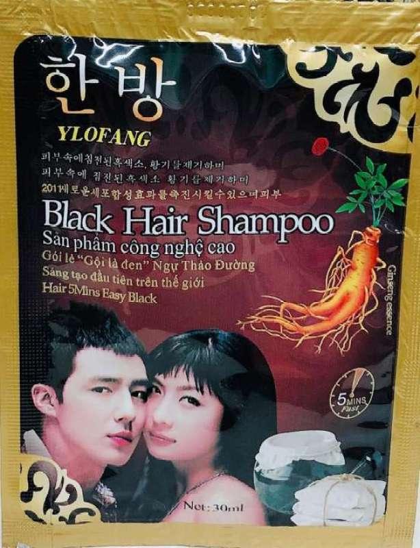[Lấy mã giảm thêm 30%]Combo 10 Gói Dầu Gội Nhuộm Đen Tóc Black Hair Shampoo Của Hàn Quốc nhập khẩu