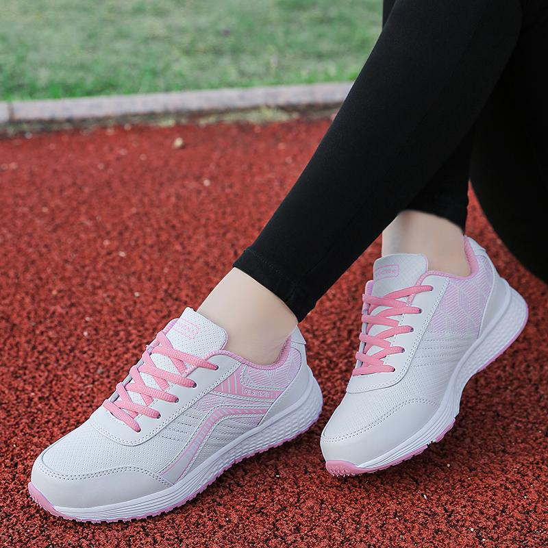 free shipping eeeb6 012af New Style Athletic Shoes women Running Shoes Spring And Autumn Leather Flat  Sneakers Black Leisure Sneakers Students Versatile women Shoes