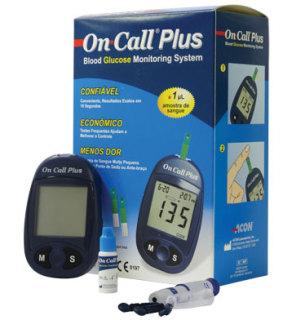Máy đo đường huyết (Tiểu Đường) OnCall Plus Nhập Khẩu Của Mỹ - Hàng Chính Hãng Giá Tốt (Tặng Kèm 25 que thử và 10 Kim) thumbnail