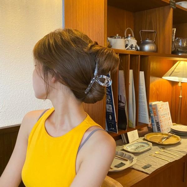Kẹp tóc càng cua nữ nhựa trong suốt tạo nhiều kiểu tóc KC02