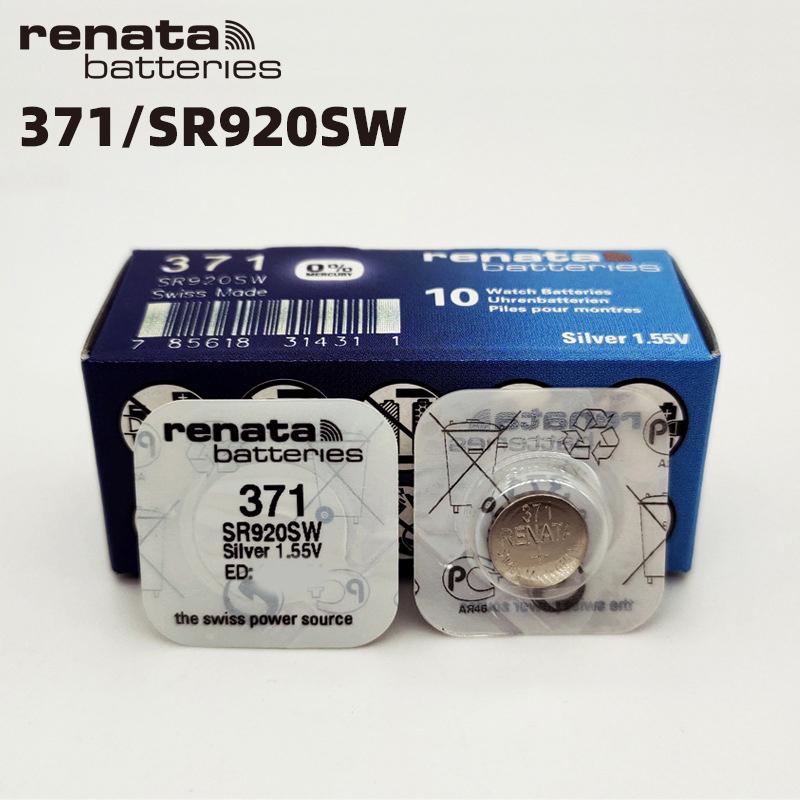 Pin đồng hồ Thụy Sỹ RENATA 371 SR920SW dành cho đồng hồ nhiều kim (Loại tốt - Giá 1 viên)