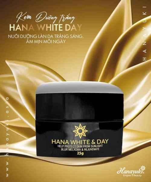 [Date 2023] Kem ban ngày Hanayuki Dưỡng trắng da chống nắng Hana White Day