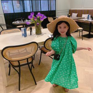 Zhihuida Váy Bé Gái 1-7 Tuổi, Váy Hoa Hàn Quốc Cotton Cho Trẻ Em Váy Dài Tay Phồng Cho Bé Gái Mùa Hè Váy Công Chúa Váy Trẻ Em Váy Thường Ngày Cho Bé Gái Xinh Đẹp