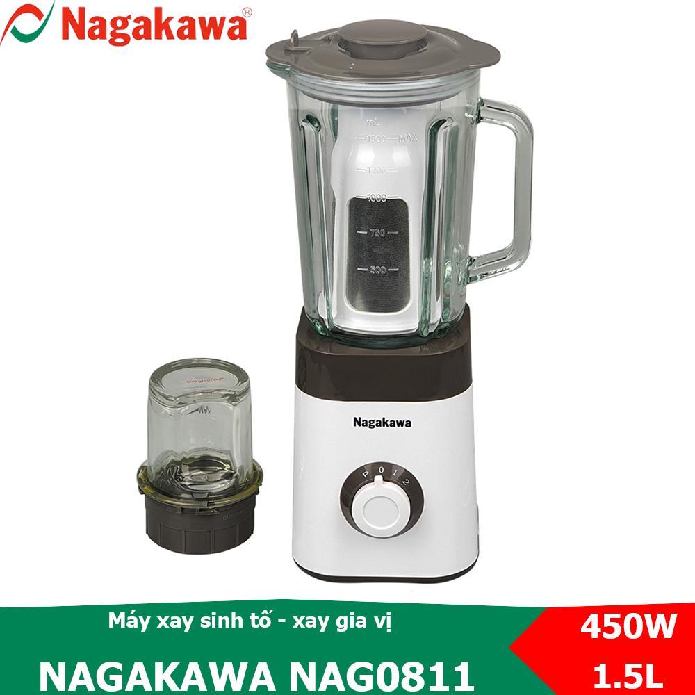 Voucher Khuyến Mãi Máy Xay Sinh Tố 2 Trong 1, Công Suất 450W Nagakawa NAG0811
