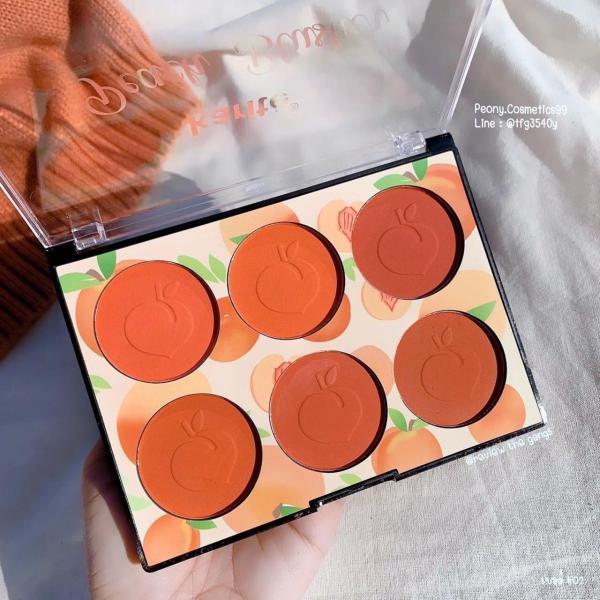 Má hồng 6 màu Peach Blusher tone cam đào đang hot ạ giá rẻ