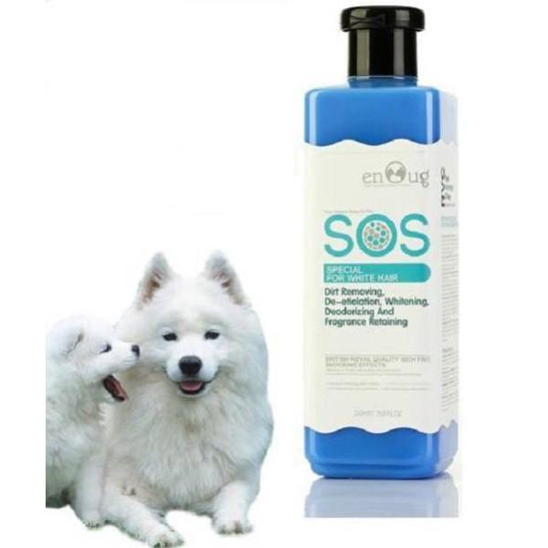 Sữa tắm Sos cho thú cưng chó mèo - xanh dương, giúp lông bóng mượt, lưu giữ hương thơm đến 10 ngày