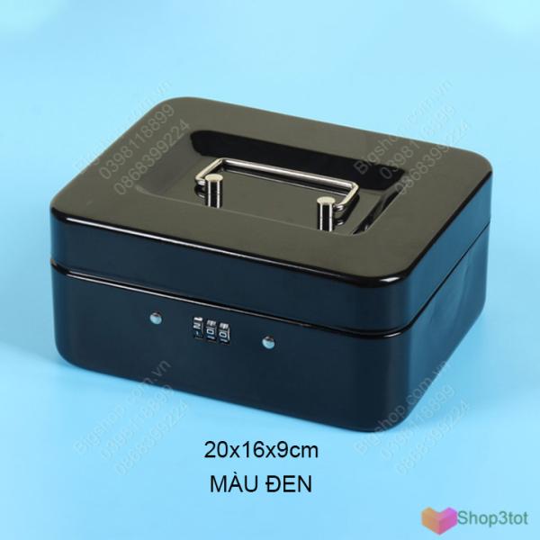 Hộp sắt (Két sắt) có khóa số, dùng để tiền, đồ cá nhân, đồ trang sức rất an toàn, kích thước 20x16x9cm