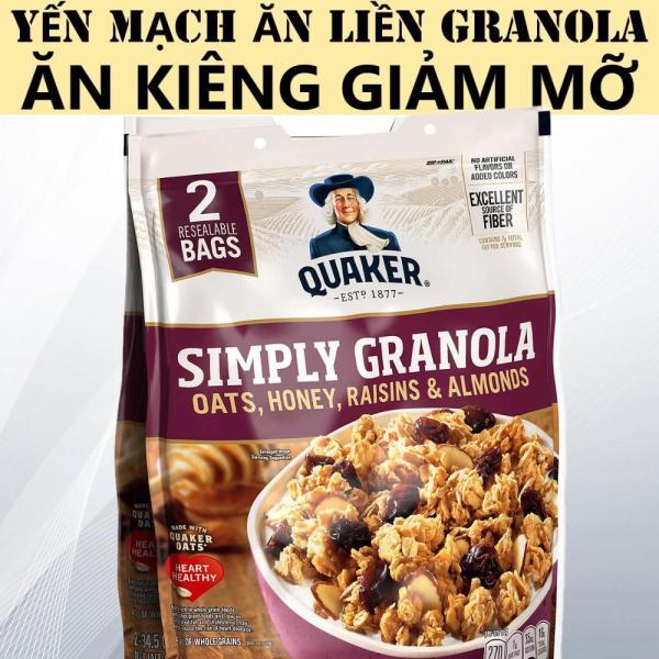 Yến Mạch Ăn Liền Quaker Granola 987Gr