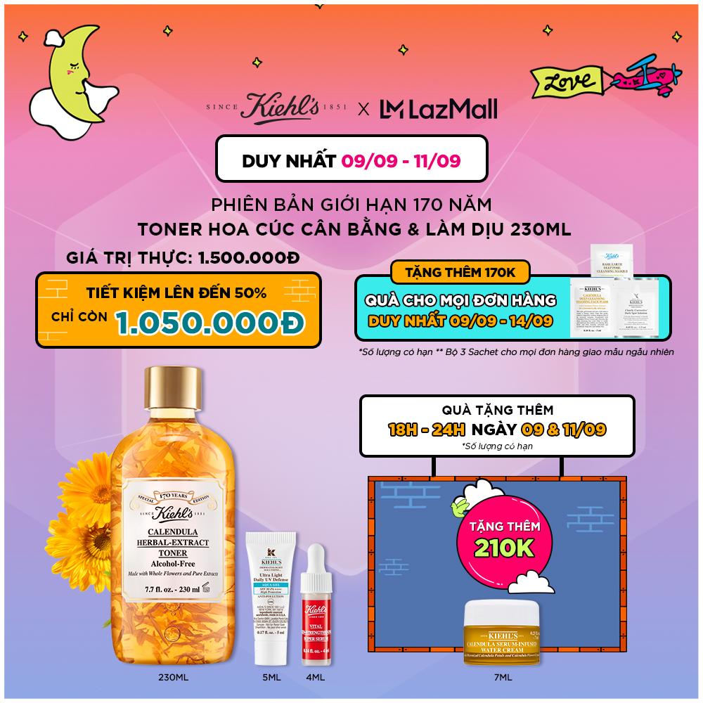 [Phiên bản mùa lễ hội] Nước Cân Bằng Hoa Cúc Kiehl's Calendula Herbal Extract Alcohol-Free Toner 250ML