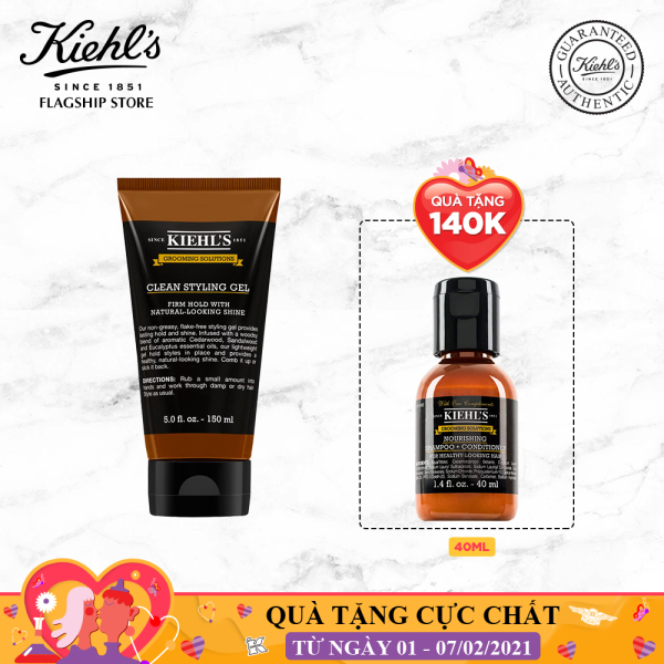Gel Tạo Kiểu Tóc Grooming Solutions Clean Hold Styling Gel Kiehls 150ml