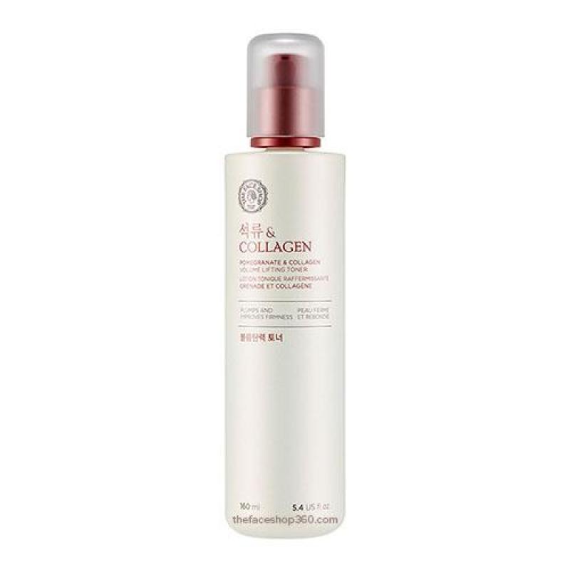 Nước hoa hồng dưỡng trắng chống lão hóa chiết xuất Lựu Collagen The Face Shop Pomegranate and Collagen Volume Lifting Toner