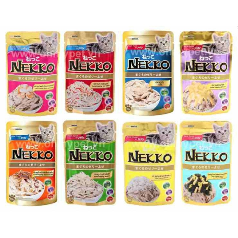 [Combo 30] Gói Sốt Nekko Jelly Mix Đủ Vị Cho Mèo