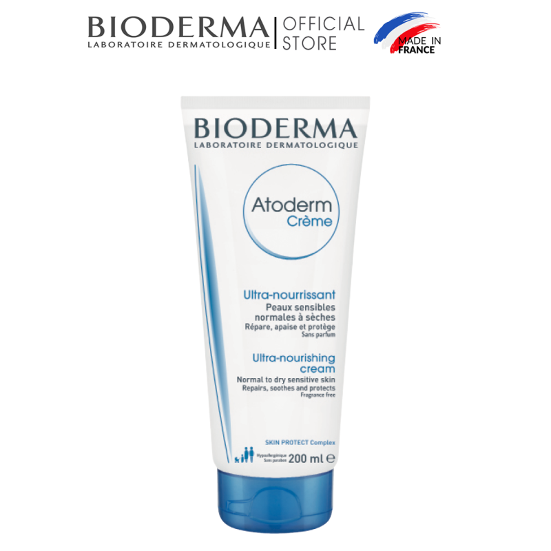 Kem dưỡng ẩm cho da thường và da khô nhạy cảm Bioderma Atoderm Crème - 200ml giá rẻ