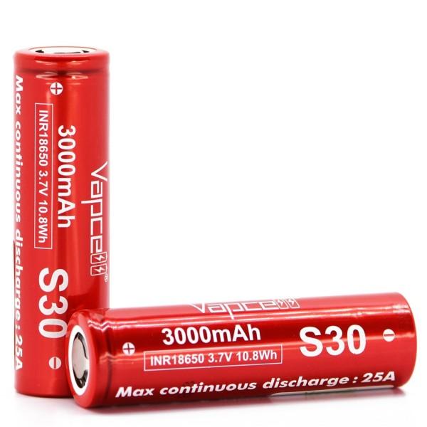 [P30] Pin sạc Vapcell S30 18650 3000mAh 25A li-ion 3.7v