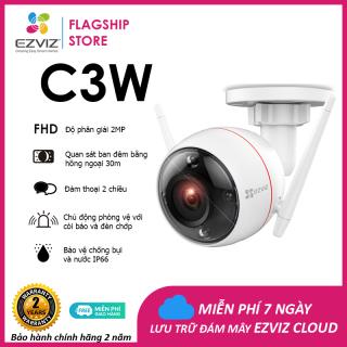 Camera EZVIZ C3W 1080P, WI-FI Không Dây, IP66 Ngoài Trời, 2 Ăng Ten Kết Nối WI-FI Mạnh Mẽ, Quan Sát Ban Đêm 30m, Báo Động Với Đèn Báo và Còi Hú Hỗ--Hàng Chính Hãng--Bảo Hành 24 tháng thumbnail