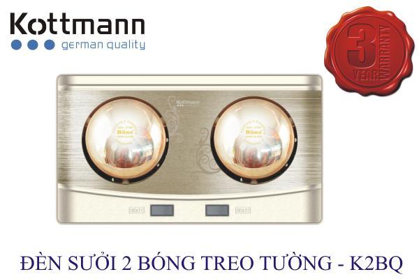 Đèn sưởi nhà tắm Kottmann 2 bóng - K2B-Q