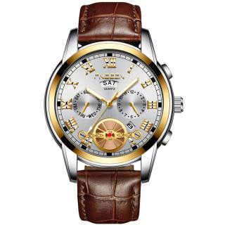 Đồng hồ nam FNGEEN F0401E doanh nhân 2020 chạy 2 lịch sang trọng dây có 2 loại hợp kim thép hoặc dây da PU thumbnail