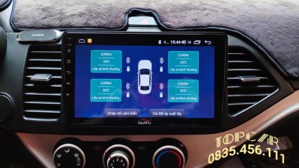 [BẢO HÀNH 12 THÁNG] Cảm Biến Áp Suất Lốp Van Trong TPMS Tích Hợp Màn Hình Android chip INFINEON SP40 nhập Đức