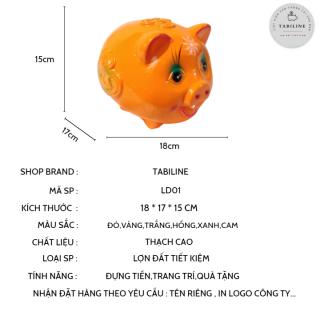 Lợn đất tiết kiệm đựng tiền size NHỎ cute đẹp giá rẻ TABILINE LD01 2