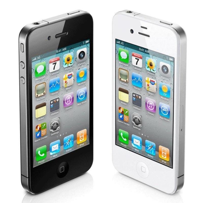 Điện thoại IPHONE 4 - 8GB Full phụ kiện giá rẻ - Bao đổi trả - Bảo hành 1T - Màu ngẫu nhiên - Tặng cáp sạc