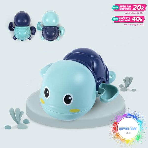Đồ chơi phòng tắm cho bé hình rùa con biết bơi siêu dễ thương chất liệu nhựa ABS an toàn