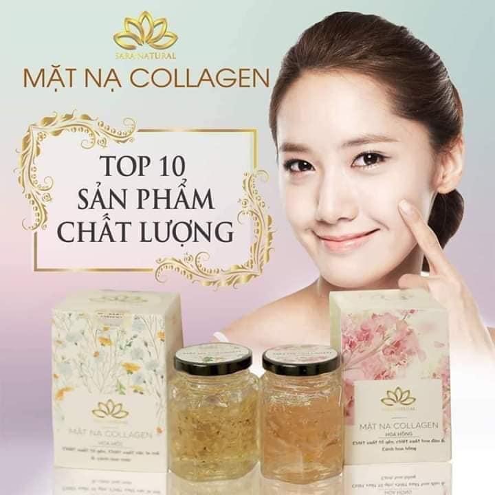 Mặt Nạ Ngủ Collagen Tổ Yến Tươi Hoa Hồng nhập khẩu