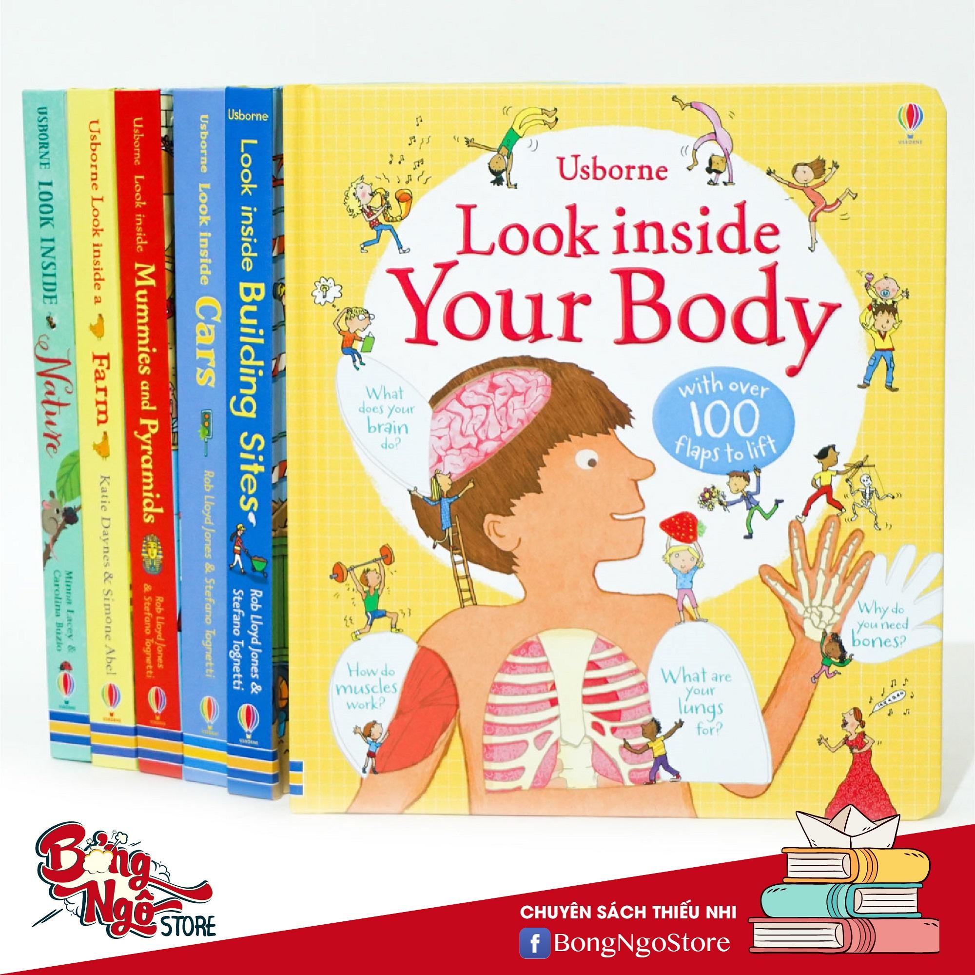 Look Inside Your Body Usborne - Sách Lật Giở Thông Minh Khám Phá Cơ Thể Người Có Giá Tốt