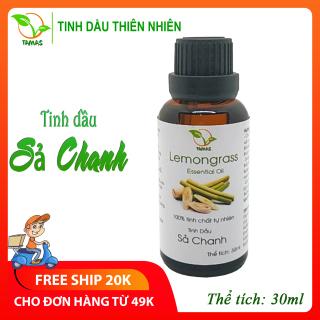 Tinh dầu Sả Chanh nguyên chất chai 30ml, tinh dầu xông phòng cho bé giúp đuổi muỗi và côn trùng hiệu quả, dùng cho đèn xông tinh dầu, máy xông tinh dầu, máy phun sương, khử mùi ẩm mốc tạo hương thơm tươi mát giúp bé ngủ ngon-TAMAS thumbnail