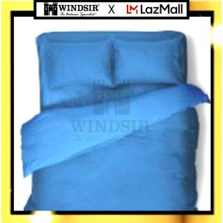 Ga giường 3 đến 4 món cotton poly cao cấp xanh dương Mono C phong cách Dubai thoáng khí chống phai màu chống nhăn xù lông độc quyền chính hãng thumbnail
