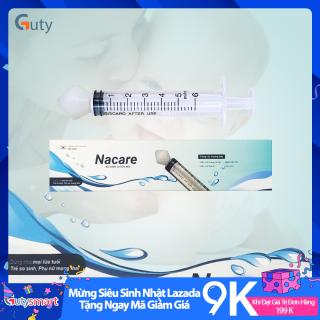 Bộ dụng cụ rửa mũi Nacare vệ sinh mũi cho mọi lứa tuổi, dùng được cho cả phụ nữ có thai và trẻ sơ sinh, hỗ trợ làm sạch khoang mũi, núm silicone gắn được vào nhiều loại xylanh, bơm tiêm phổ biến 10ml,20ml,50ml - Gutysmart thumbnail