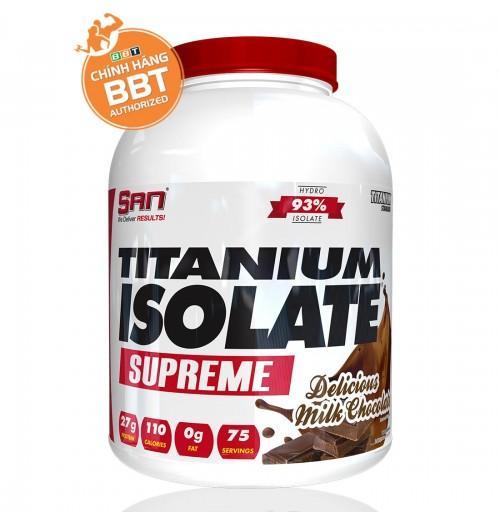 Tăng cơ giảm mỡ S.A.N Titanium Whey Isolate Supreme + tặng bình lắc + Áo size ngẫu nhiên nhập khẩu