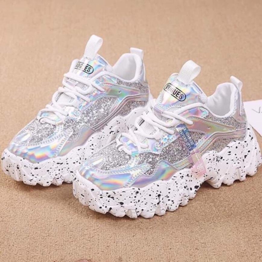 HÀNG LOẠI 1 Giày nữ, giày thể thao nữ, đế viền răng cưa óng ánh, bản 2020 mới siêu hot giá rẻ