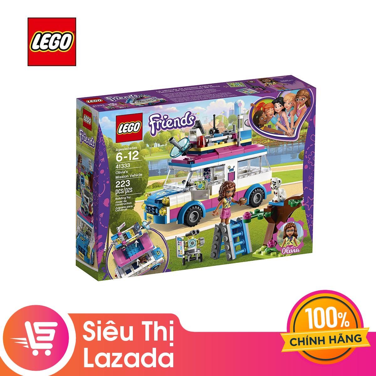 [Voucher Freeship 30k] Xe Giải Cứu Thú Cưng LEGO FRIENDS - 41333 (223 Chi Tiết) Siêu Khuyến Mại