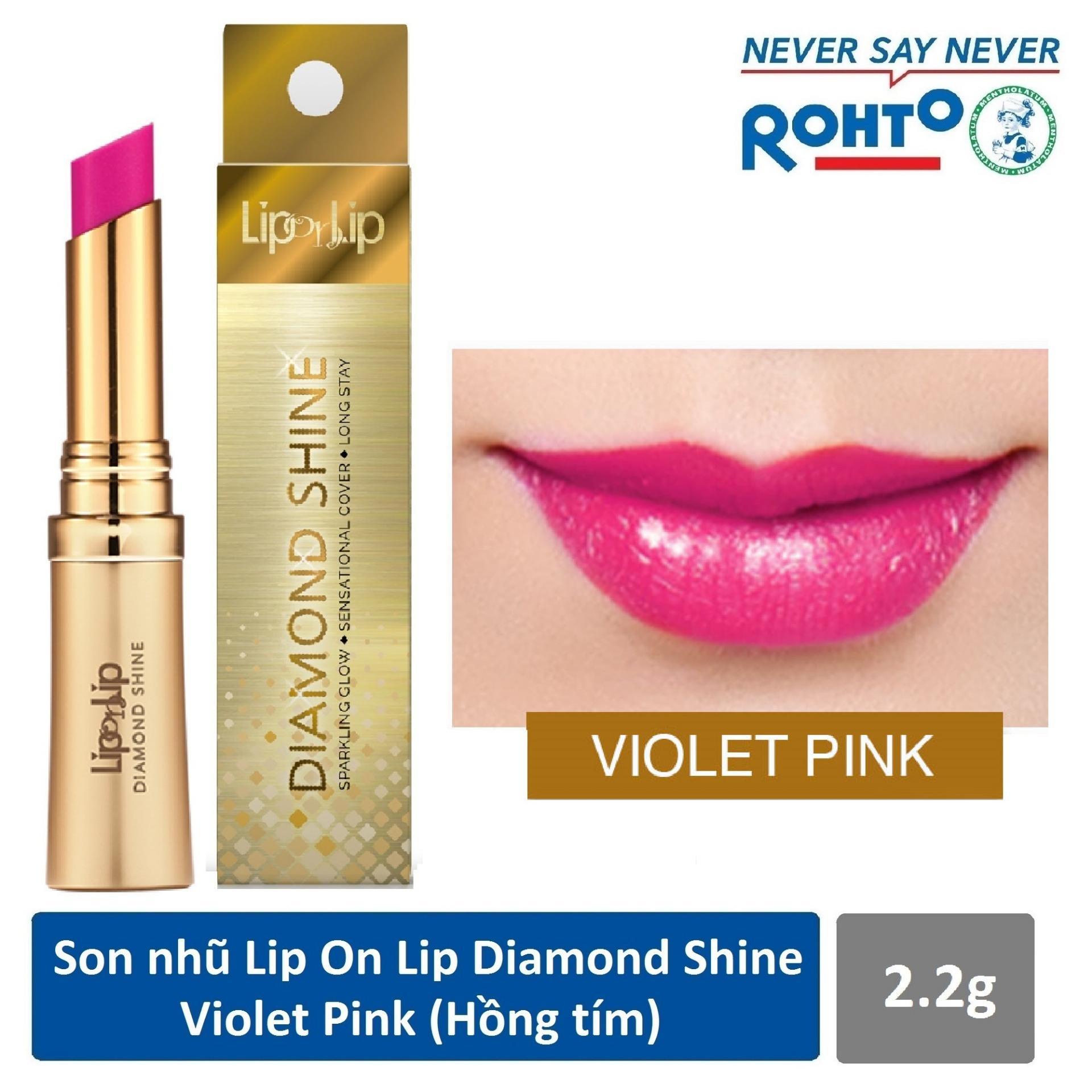 Son nhũ Lip On Lip Diamond Shine Violet Pink 2.2g (Hồng tím) tốt nhất