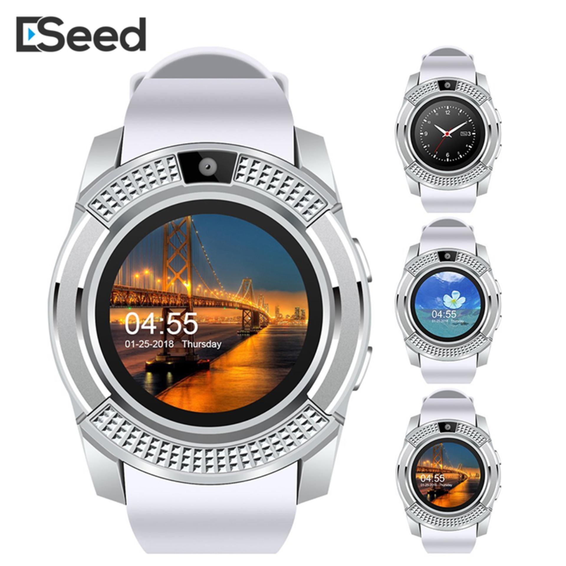 Eseed Đồng hồ thông minh bluetooth V8 màn hình tròn 1.22 inch hỗ trợ thẻ SIM camera hỗ trợ tiếng Việt - INTL