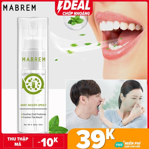 MABREM Xịt miệng Hơi thở thơm miệng Xịt miệng Herbal Fresh Breath Loại bỏ Hơi thở Khói Điều trị Hôi miệng Loại nhỏ Di động giá rẻ