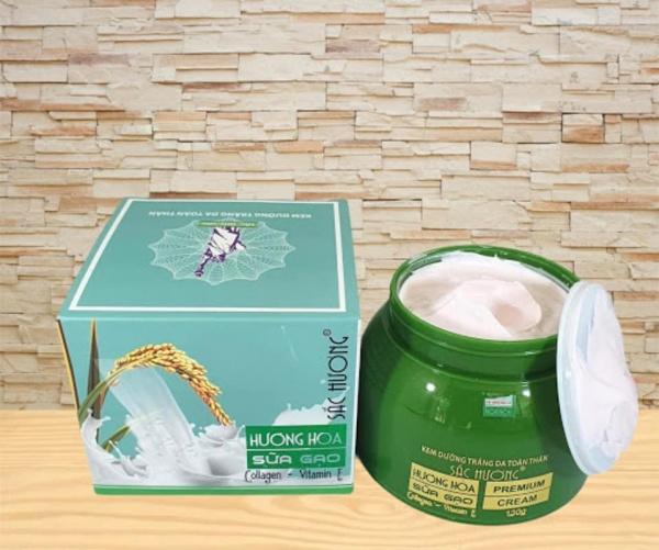 Kem body sắc hương dạng hộp màu trắng màu xanh, màu trắng, màu hồng 130g dưỡng trắng da toàn thân chống nắng