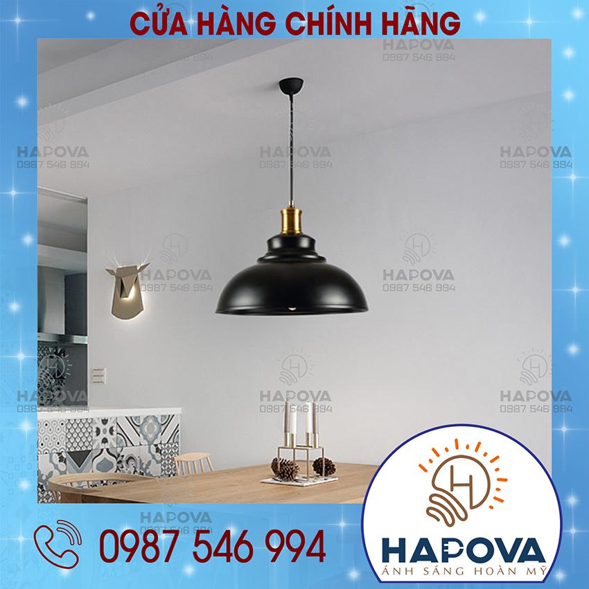 Bảng giá Đèn thả đui đồng trang trí bàn ănquán Cafe hapova DT 8194 chao 300mm - Tặng kèm bóng 5W ánh sáng vàng